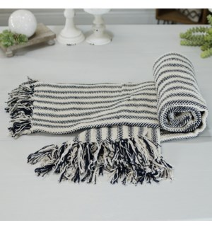 COTTON THROW STRIPED