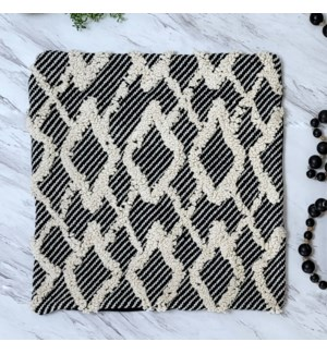 COTTON PILLOW COVER BLACK