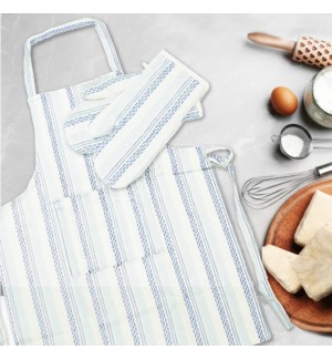 COTTON APRON/POT HOLDRS. SET