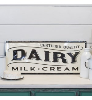 """MTL. SIGN """"DAIRY"""""""