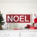 "MTL. SIGN ""NOEL"" (1/cs)"