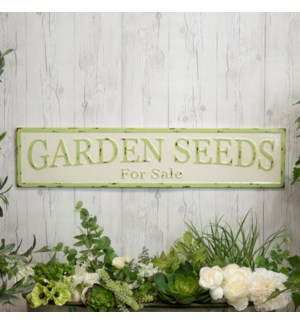 "|MTL. SIGN ""GARDEN SEEDS""
