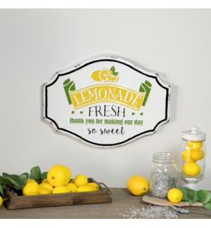 "MTL. SIGN ""LEMONADE FRESH"""