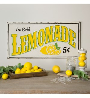 "MTL. SIGN ""LEMONADE 5 CENTS"""