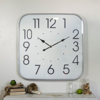 "MTL. FRAMED 36"" WALL CLOCK"
