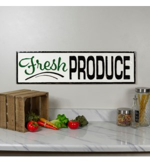 "|MTL. SIGN ""FRESH PRODUCE""