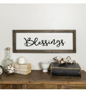 "|MTL./WD. SIGN ""BLESSINGS""