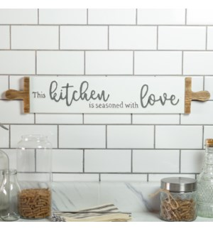"MTL. SIGN ""KITCHEN/LOVE"""
