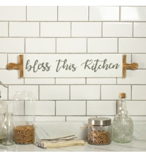 "MTL. SIGN ""BLESS/KITCHEN"""