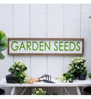 "MTL./WD. SIGN ""GARDEN SEEDS"""