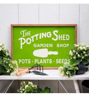"MTL./WD. SIGN ""POTTING SHED"""