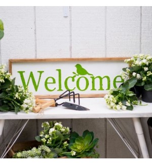 "MTL./WD. SIGN ""WELCOME"""