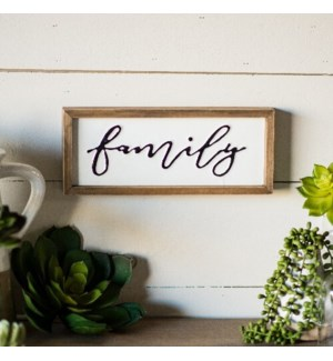 "MTL./WD. SIGN ""FAMILY"""