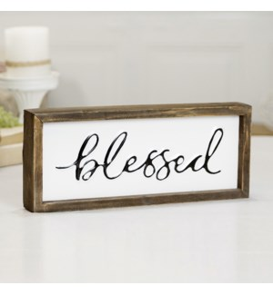 "MTL./WD. SIGN ""BLESSED"""