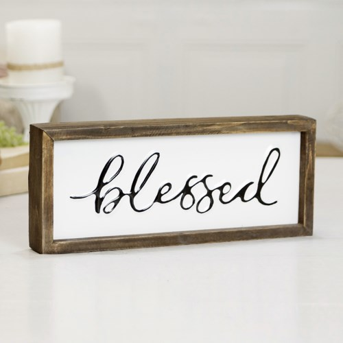 """MTL./WD. SIGN """"BLESSED"""""""
