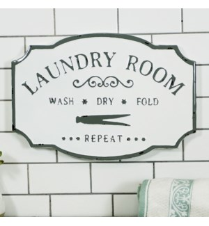 "MTL. SIGN ""LAUNDRY ROOM"""