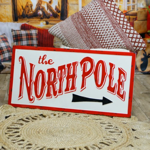 "|MTL. SIGN ""NORTH POLE""