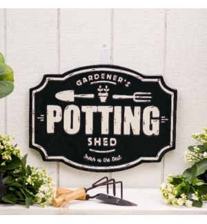"MTL. SIGN ""POTTING SHED"""