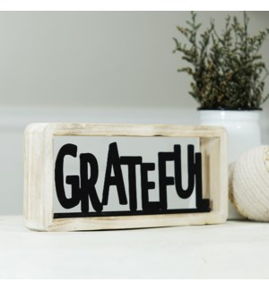 "MTL./WD. TABLETOP DECOR ""GRATEFUL"""