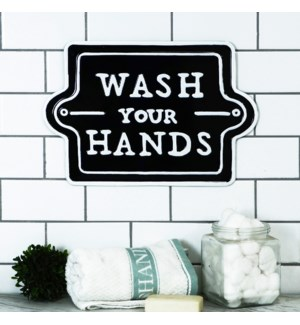"MTL. SIGN ""WASH HANDS"""