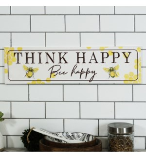 "MTL. SIGN ""THINK HAPPY"""