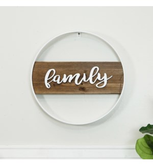 "WD./MTL. SIGN ""FAMILY"