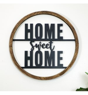 "WD./MTL. SIGN ""HOME SWEET"""