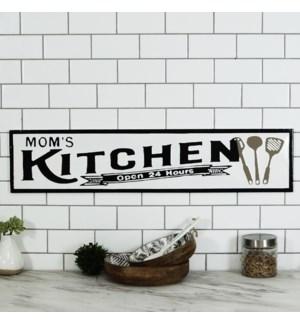 "MTL. SIGN ""MOMS KITCHEN"""