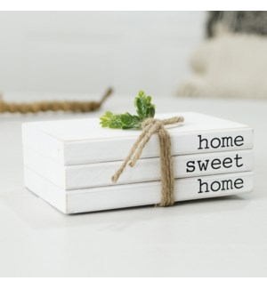 "WD. BOOK DECOR ""HOME SWEET HOME"""