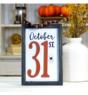 "WD. SIGN ""OCT 31"""
