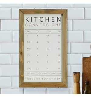 WD. KITCHEN MEASURING CHART