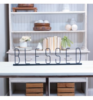 MTL. TABLE TOP SIGN 'BLESSED'