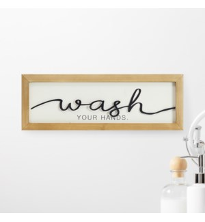 WASH LASER CUT SIGN