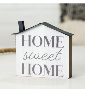 """WD. TABLETOP SIGN """"HOME SWEET"""""""