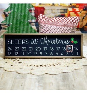 "WD. SIGN ""SLEEPS TIL CHRISTMAS"""