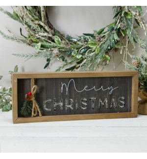 "WD. TABLE SIGN ""MERRY CHRISTMAS"""