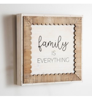 """WD. TABLE SIGN """"FAMILY"""""""
