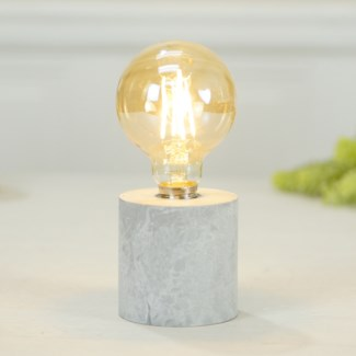 RND. DECORATIVE  LIGHT W/ CEMENT BASE (6/cs)