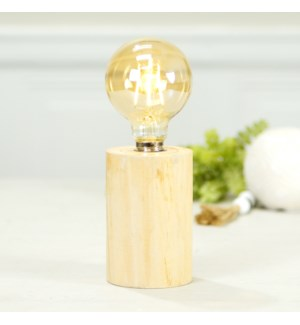 |DECORATIVE LIGHT W/ WD. BASE|