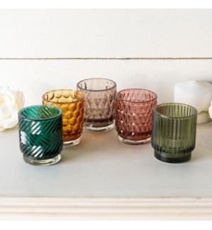 GLASS VOTIVES S/5
