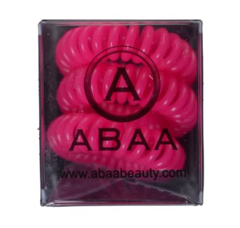 ABAA PINK HAIR RINGS 3PK