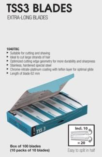 TSS3 Extra Long Razor Blades 100PC