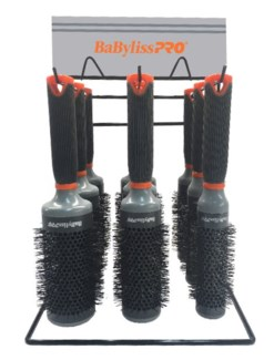 9pc Babyliss Orange TANGO Brush Display