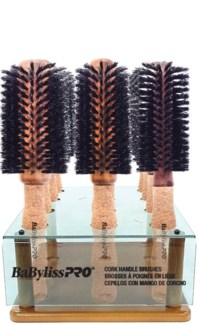 12pc Cork Handle Brush Display SO18