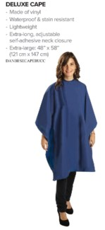 Deluxe All Purpose BLUE Cape ENV-CAPE-BL