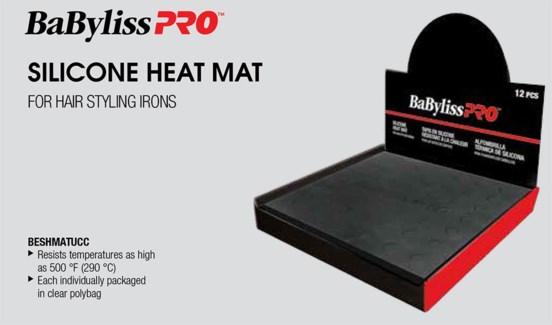 12pc Silicone Black Heat Mat Disp