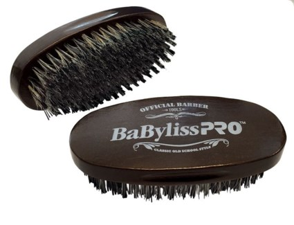 Oval Palm Barber Brush REINFORCED BRISTL