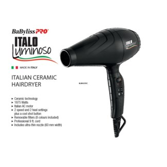ITALO Luminoso Ceramic BLACK Hair Dryer