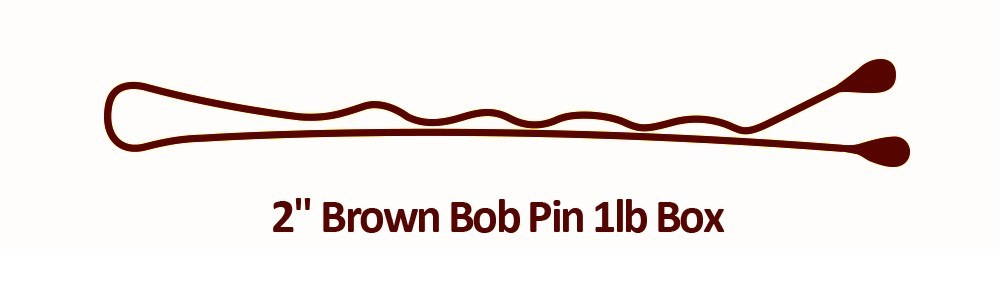 2 Brown Bob Pin 1lb Box BESBOBREGBRUCC