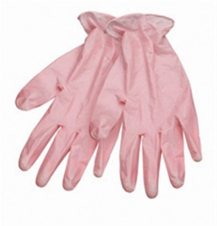 $BF Large Style Touch PINK Vinyl Glove